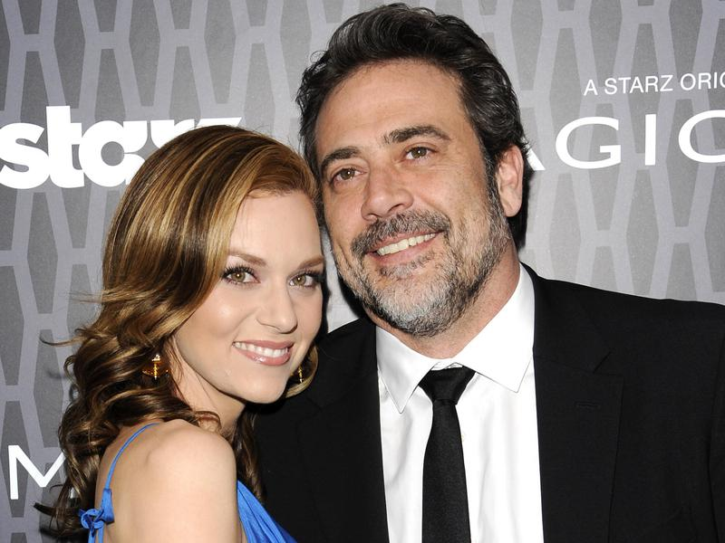 "Actor Jeffrey Dean Morgan, right, and actress Hilarie Burton attend the premiere of the Starz original series ""Magic City"" at The Academy Theater at Lighthouse International on March 22, 2012 in New York."