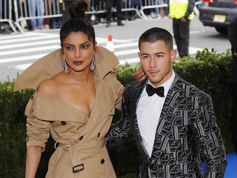 Priyanka Chopra, left, and Nick Jonas at the 2017 Costume Institute Gala at the Metropolitan Museum of Art in New York City.