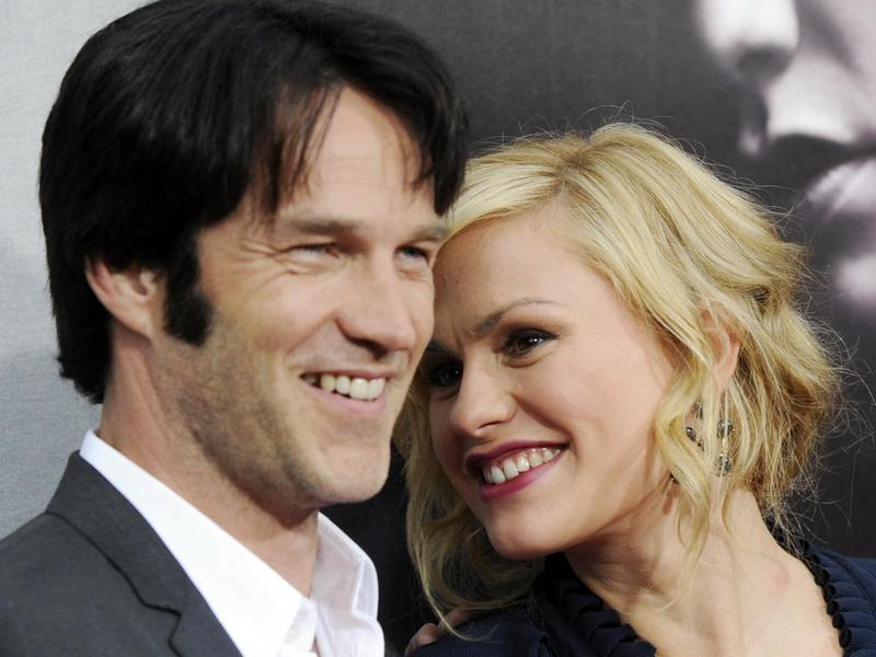 """True Blood"" cast members Stephen Moyer, left, and Anna Paquin pose together at the premiere for the second season of the HBO show in Los Angeles on June 9, 2009."