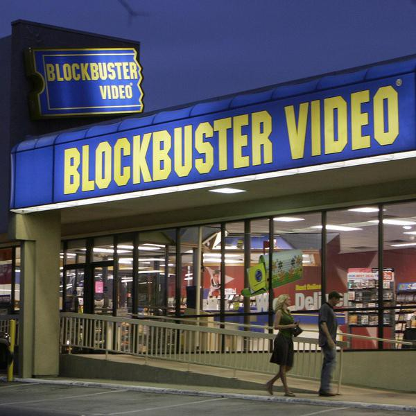 FILE -  This July 23, 2006 file photo shows customers enter a Blockbuster video store in Dallas. The troubled video-rental chain Blockbuster Inc. filed for bankruptcy protection Thursday Sept. 23, 2010 as it tries to reorganize. (AP Photo/Ron Heflin, File)