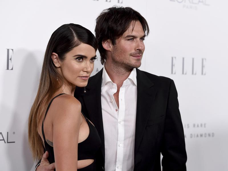 Nikki Reed, left, and Ian Somerhalder arrive at the 24th annual ELLE Women in Hollywood Awards at the Four Seasons Hotel Beverly Hills on Oct. 16, 2017, in Los Angeles.