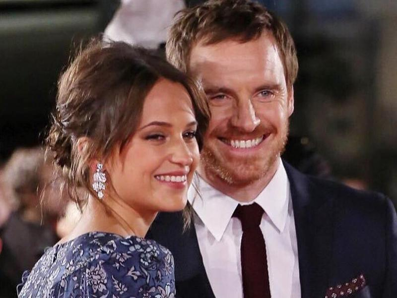 Alicia Vikander, left, and Michael Fassbender have an 11-year age gap.