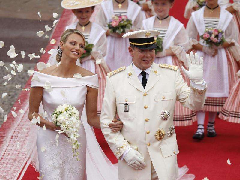 Monaco's Prince Albert II, right, and Princess Charlene got married in July 2011.